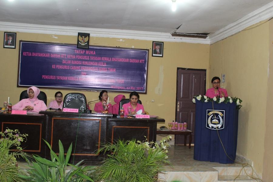 Ketua Bhayangkari Daerah NTT laksanakan kunjungan kerja di Polres Sumba Timur