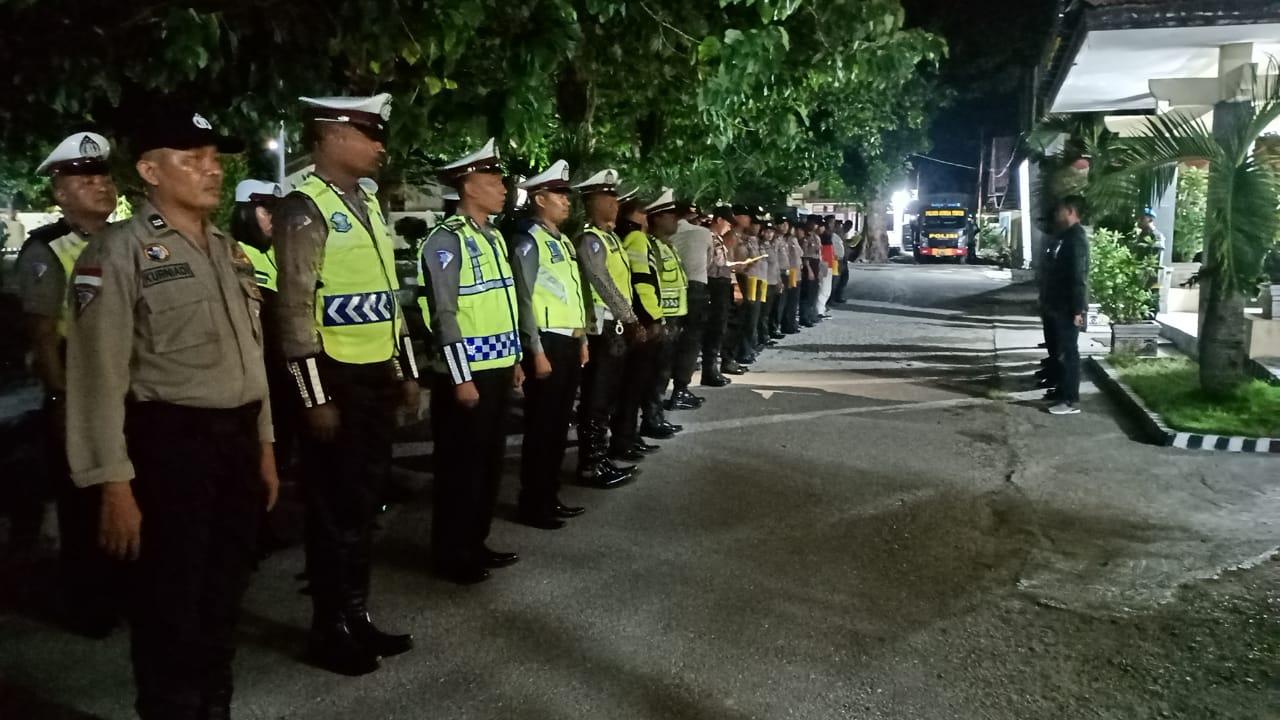 Polres Sumba Timur Gelar Patroli Malam, Pasca Pengumuman Hasil Rekap Nasional Pemilu Oleh KPU