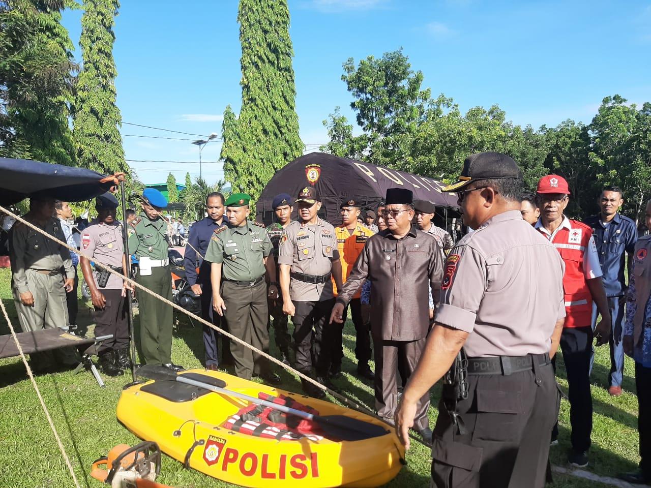 Bupati dan Kapolres Sumba Timur Cek Kesiapsiagaan Posko Penanggulangan Bencana