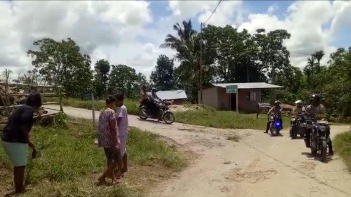 Polsek Matawai Lapawu Patroli Keliling Desa Imbau Antisipasi Virus Covid 19